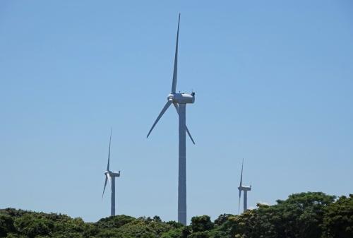 稼働中の風力発電施設の例(写真:日経クロステック)