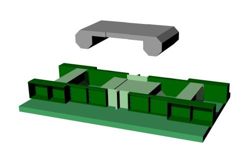 かさ上げに用いるPCaパネルは、可変型枠を使って効率よく製造する(資料:會澤高圧コンクリート)
