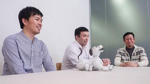 インタビューに応じていただいたソニーのaibo開発チームのメンバー