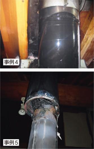 〔写真2〕接続箇所から発火