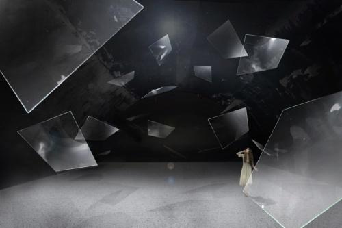 AGC旭硝子は4月中旬にイタリア・ミラノで「ミラノデザインウィーク」に出展する。図はインスタレーションのイメージ(出所:AGC旭硝子)