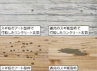 高い撥水(はっすい)性を持ちコンクリート表面の気泡や色むらを抑制する「アート型枠」(資料:清水建設、東洋アルミニウム)