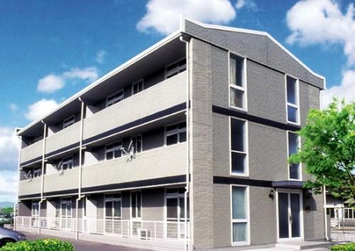 調査対象となった集合住宅「ゴールドレジデンス」。11棟で「界壁なし」、4棟で「界壁部分の施工不備」が見つかった(写真:レオパレス21)