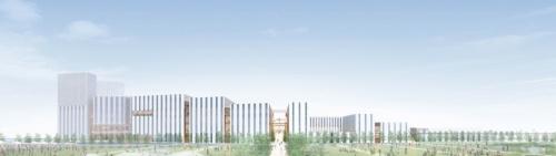 特別目的会社の羽田みらい開発が5月10日に発表した「羽田空港跡地第1ゾーン整備事業(第1期事業)」の完成イメージ。同社には鹿島など9社が出資している(資料:鹿島)