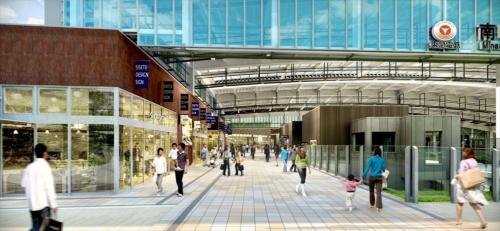 南町田駅の南北自由通路のイメージ(資料:町田市・東急電鉄)
