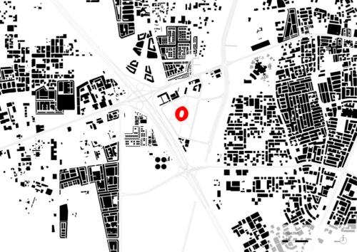 敷地周辺の配置図(資料:Zaha Hadid Architects)