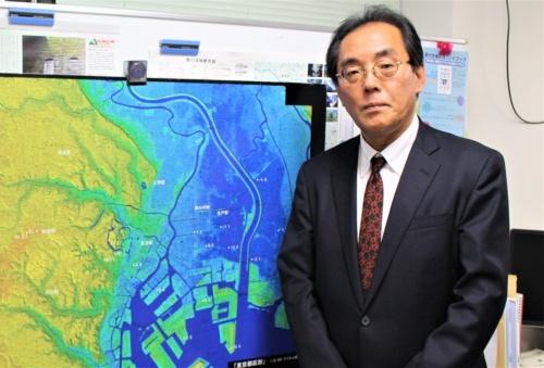 東京大学大学院情報学環の片田敏孝特任教授。江戸川区の水害ハザードマップ作成を監修した(写真:日経 xTECH)