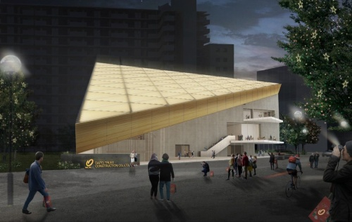 「ROOFLAG賃貸住宅未来展示場」の外観イメージ(資料:マウントフジアーキテクツスタジオ)