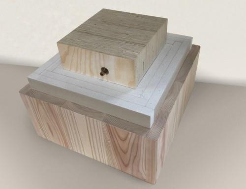 大林組が2016年に開発した2時間耐火木造部材「オメガウッド」。高層純木造耐火ビルを実現するための重要な技術となる(資料:大林組)