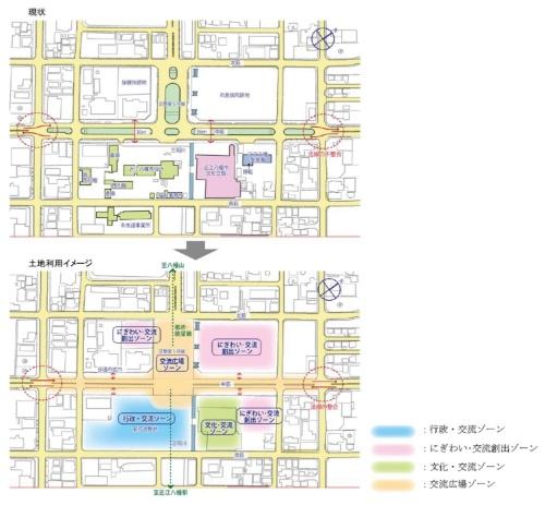 2016年に作成された前計画での整備イメージ(資料:近江八幡市)