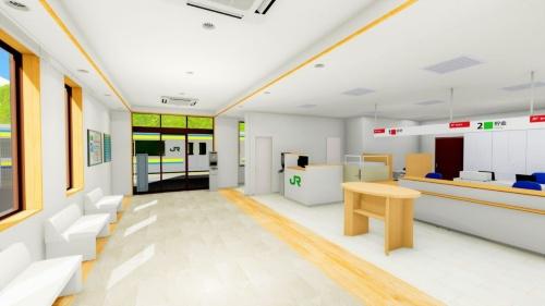 江見郵便局の内観イメージ(資料:JR東日本)