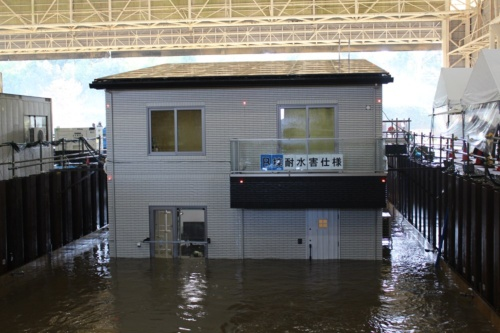 木造枠組み壁工法で建設した「耐水害仕様住宅」(写真:日経 xTECH)