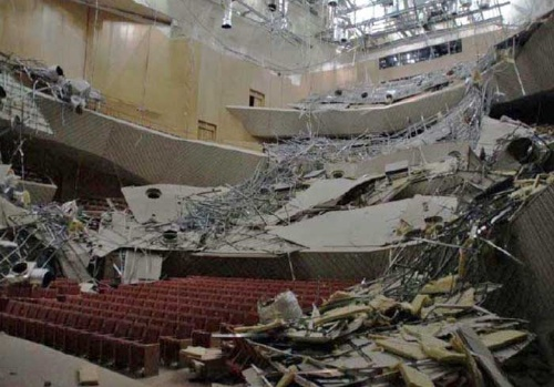 吊り天井が崩落したミューザ川崎シンフォニーホール(写真:川崎市)