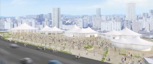 「しらなみ」をイメージしたホールの屋根(資料:JR東日本)