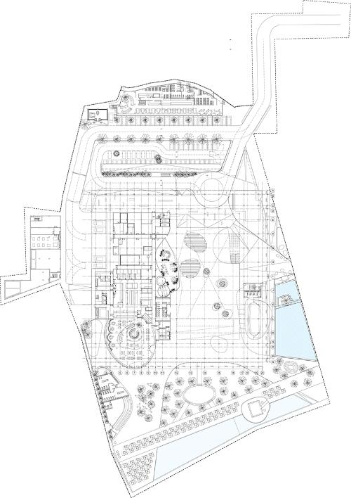 配置・1階平面図(資料:OMA)