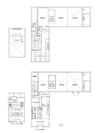 上が2階平面図、下が1階平面図(資料:Atelier Tsuyoshi Tane Architects)