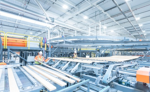 米カテラがワシントン州スポケーンバレーに完成させた延べ約2万5000m2のCLT工場(写真:Katerra)