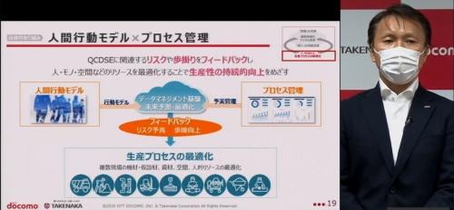 NTTドコモの5G・IoTビジネス部担当部長の仲田正一氏は「人間行動モデル」と「プロセス管理」の掛け算で、建築現場のデジタル変革を進める(写真:日経クロステック)