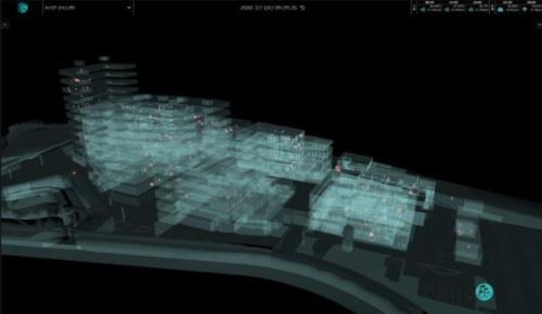 羽田イノベーションシティにおける3D K-Fieldの画面(資料:鹿島)