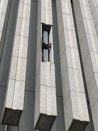 2020年9月22日に、JR札幌駅に直結するJRタワーの立体駐車場の壁面に取り付けられていた飾り石が落下した(写真:札幌駅総合開発)