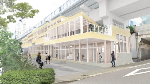 「笹島高架下オフィス」の外観イメージ(資料:帝人)
