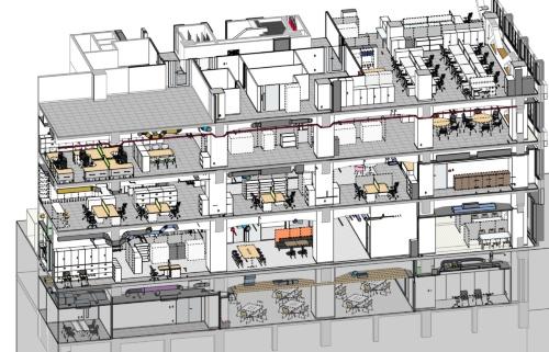建物のデジタルツインの例(資料:大成建設)
