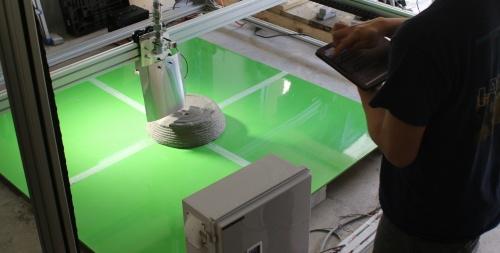 Polyuseが開発している建設3Dプリンター「ASHIGARU」(写真:Polyuse)