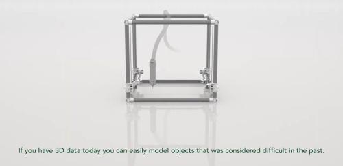 Polyuseが2019年に動画の中で公開した建設3Dプリンターのイメージ図(資料:Polyuse)