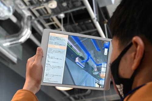 BIMデータと連係して部材ごとの詳細情報を表示する(写真:日経クロステック)