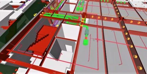 意匠(内外装や外構)と設備の設計情報を含めた「統合BIMモデル」で、BIMファーストモデルを作成する(資料:東急建設)