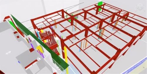 これまで作業所に提供していたのは、構造BIMモデルに限られていた(資料:東急建設)