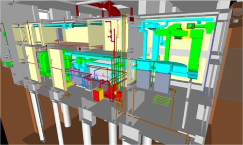 意匠・構造・設備を含む「BIMファーストモデル」の例(資料:東急建設)