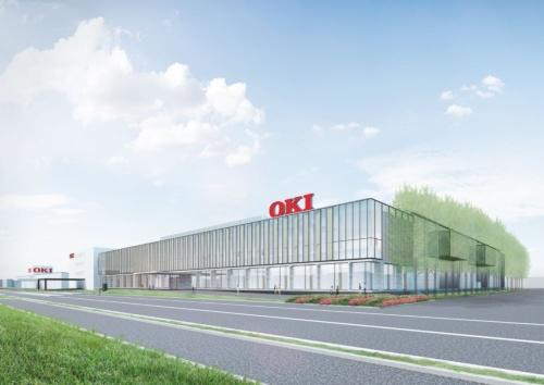 OKI本庄工場の新棟の外観イメージ。投資額の約60億円は、工場に付随する変電所の整備費用も含む(資料:大成建設)