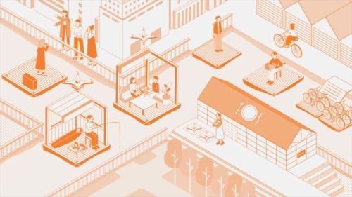 竹中工務店などが実施する「海床ロボット」のイメージ図(資料:竹中工務店)