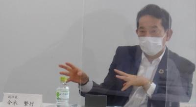 清水建設の今木繁行副社長(写真:日経クロステック)
