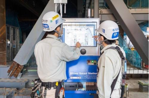 「SmartStation」の利用場面(写真:清水建設)