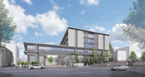 開成学園で進む建て替えのイメージ(資料:大成建設)