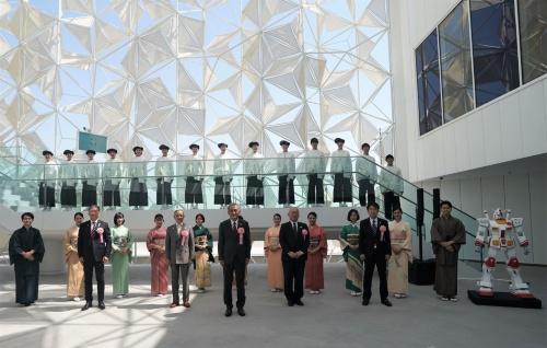 21年10月1日に開催した開館式(写真:2020年ドバイ国際博覧会日本館広報事務局)
