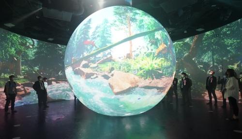 日本館の展示のクライマックスシーン(写真:2020年ドバイ国際博覧会日本館広報事務局)