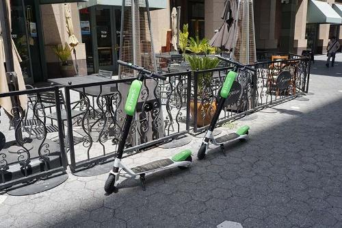 米ライムの電動スクーター