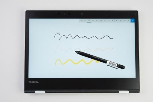 専用のアクティブペンはペン先が細くて使いやすい