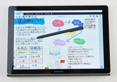 電磁誘導方式はペン先の細さが素晴らしく、書き味も申し分ない
