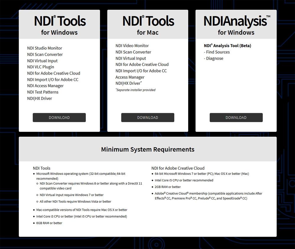 NewTekのNDI Toolsも、無料で利用できるアプリだ