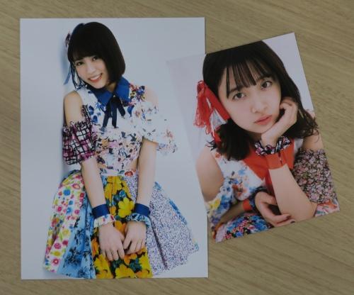 高品質なブロマイドも購入できる。写真は「こんぷりん」で購入できるアイドルグループ「SUPER☆GiRLS」のブロマイド(シャープがサンプルとして提供しているもの)。価格はL版が200円(税込み)、2L版が400円(同)
