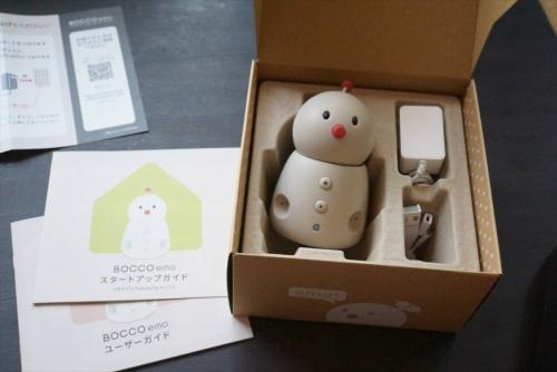 箱の中には、ロボット本体と利用ガイドが入っている