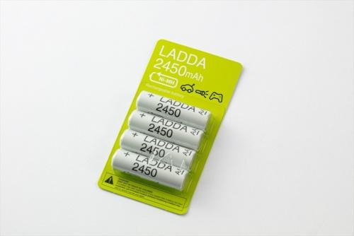「ラッダ」は充電式電池だ。4本セットで、単3型と単4型が共に799円(IKEA Family価格、税込み)