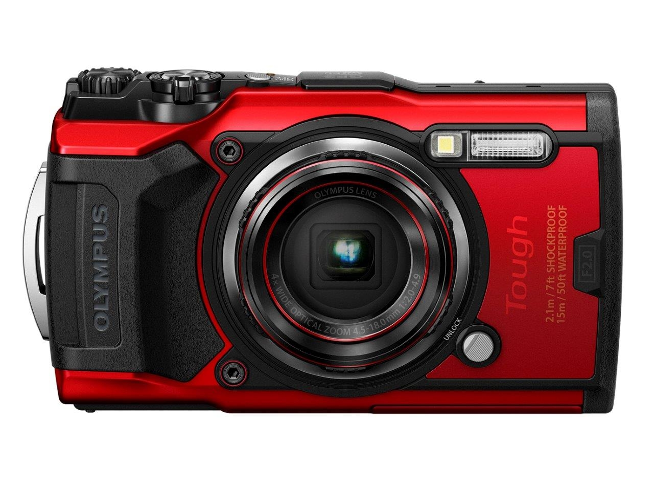 オリンパスの防水デジタルカメラOLYMPUS「Tough TG-6」。店頭予想価格は5万7240円(税込み) (出所:オリンパス)