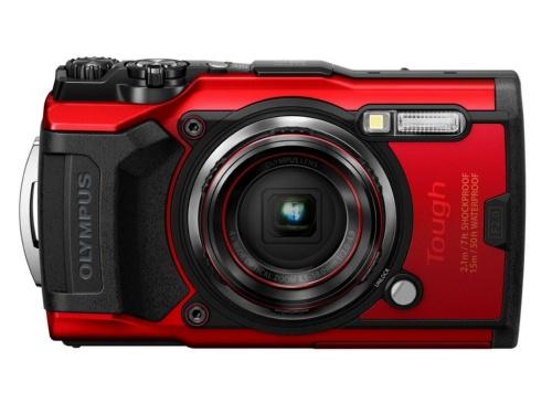 オリンパスの防水デジタルカメラOLYMPUS「Tough TG-6」。店頭予想価格は5万7240円(税込み)