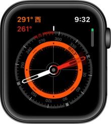 Series 5専用の「コンパス」アプリで方角や傾斜を正確に知ることができる