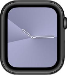 針の示す位置がグラデーションの境目になっており、秒はグラデーションの動きだけで識別するデザインの「グラデーション」